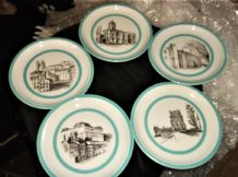 SET OF 5 LIMITED EDITION DISPLAY PLATES VISTA ALEGRE XVII EXPOSICAO ARTE CULTURA